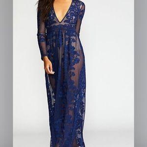 FL&L x Free People Temecula embroidered maxi dress